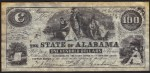 FAKE ALERT:  State of Alabama January 1st, 1864 $100 Bill