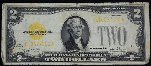 Antique Money Altered Colors On United States Currency