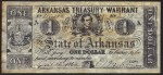 FAKE ALERT:  Arkansas Treasury Warrant April 28, 1864 $1 Bill