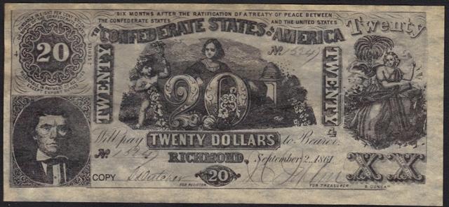 Antique Money – FAKE ALERT: Confederate States Of America
