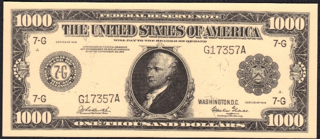 Antique Money – FAKE ALERT: 1918 $1000 Bill Serial Number