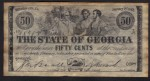 FAKE ALERT:  The State Of Georgia 50 Cents January 1st, 1863