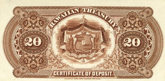 Antique Money Value Of 1879 20 Hawaiian Islands