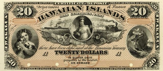 Antique Money Value Of 1879 20 Hawaiian Islands