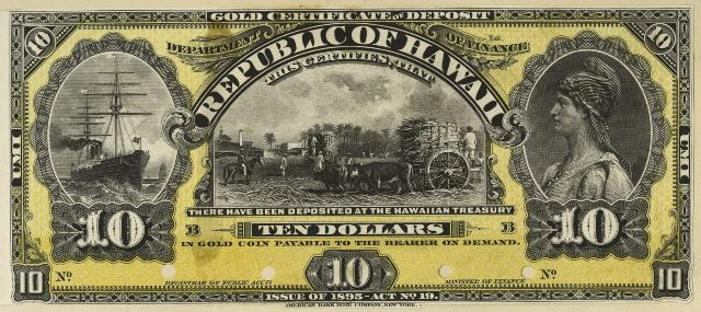 Antique Money – Value of 1895 $10 Republic of Hawaii Gold