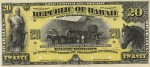 Value of 1895 $20 Republic of Hawaii Gold Certificate of Deposit