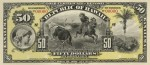 Value of 1895 $50 Republic of Hawaii Gold Certificate of Deposit
