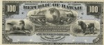 Value of 1895 $100 Republic of Hawaii Silver Certificate