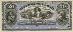 Value of 1895 $20 Republic of Hawaii Silver Certificate