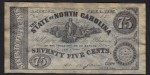 FAKE ALERT:  The State Of North Carolina 75 Cents Jan 1, 1863