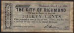 FAKE ALERT:  The City Of Richmond 30 Cents April 14, 1862