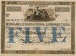 Mercantile Bank of India, London and China $5 Bank Note