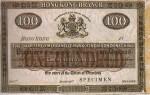 Mercantile Bank of India, London and China $100 Bank Note