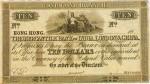 Mercantile Bank of India, London and China $10 Bank Note