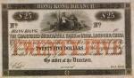 Mercantile Bank of India, London and China $25 Bank Note