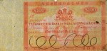 Value of Chartered Bank of India, Australia & China $100 Bank Note 1860s