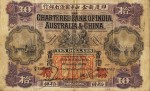 Value of Chartered Bank of India, Australia & China $10 Bank Note (1924-1929)