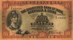 Value of Chartered Bank of India, Australia & China $10 Bank Note (1931-1956)