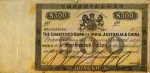 Value of Chartered Bank of India, Australia & China $500 Bank Note 1860s