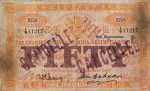Value of Chartered Bank of India, Australia & China $50 Bank Note 8th November 1910