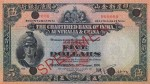 Value of Chartered Bank of India, Australia & China $5 Bank Note (1930-1931)
