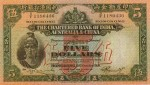 Value of Chartered Bank of India, Australia & China $5 Bank Note (1941-1948)