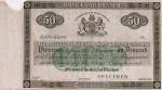 Hong Kong Mercantile Bank of India, London & China Fifty Dollars