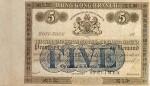 Hong Kong Mercantile Bank of India, London & China Five Dollars