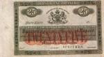 Hong Kong Mercantile Bank of India, London & China Twenty-Five Dollars