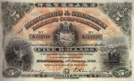 Value of Hong Kong & Shanghai $5 Bank Note (1906-1909)