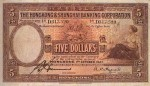Value of Hong Kong & Shanghai $5 Bank Note (1927-1941)