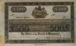 Value of Hong Kong & Shanghai $500 Bank Note 1877