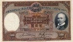Value of Hong Kong & Shanghai $500 Bank Note (1941-1969)
