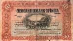 Mercantile Bank of India Limited Hong Kong Ten Dollars