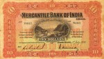 Mercantile Bank of India Limited Ten Dollar Bill Value