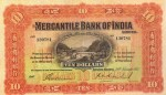 Mercantile Bank of India Limited $10 Bank Note Value