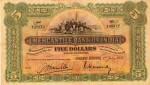 Mercantile Bank of India Limited Five Dollar Bill Value
