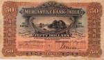 Mercantile Bank of India Limited Hong Kong Fifty Dollars