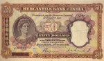 Mercantile Bank of India Limited $50 Bank Note Value