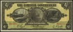 Value of 1919 Four Shillings Bahamas Government Bank Note