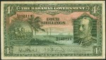 Value of 1930 Four Shillings Bahamas Government Bank Note