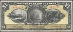 Value of 1919 One Pound Bahamas Government Bank Note
