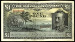 Value of 1930 One Pound Bahamas Government Bank Note