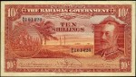 Value of 1930 Ten Shillings Bahamas Government Bank Note