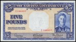 Value of 1936 Five Pounds Bahamas Government Bank Note