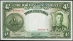 Value of 1936 Four Shillings Bahamas Government Bank Note