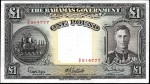 Value of 1936 One Pound Bahamas Government Bank Note