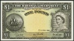 Value of 1953 One Pound Bahamas Government Bank Note