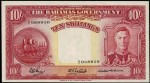 Value of 1936 Ten Shillings Bahamas Government Bank Note