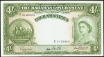 Value of 1953 Four Shillings Bahamas Government Bank Note